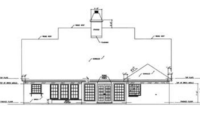 Southern Exterior - Rear Elevation Plan #36-175 - Houseplans.com