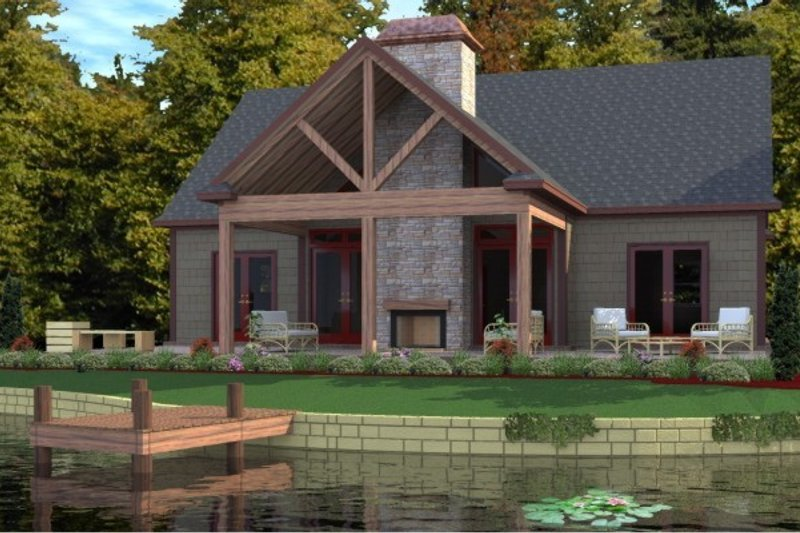 Craftsman Style House Plan - 3 Beds 2 Baths 1711 Sq/Ft Plan #63-359