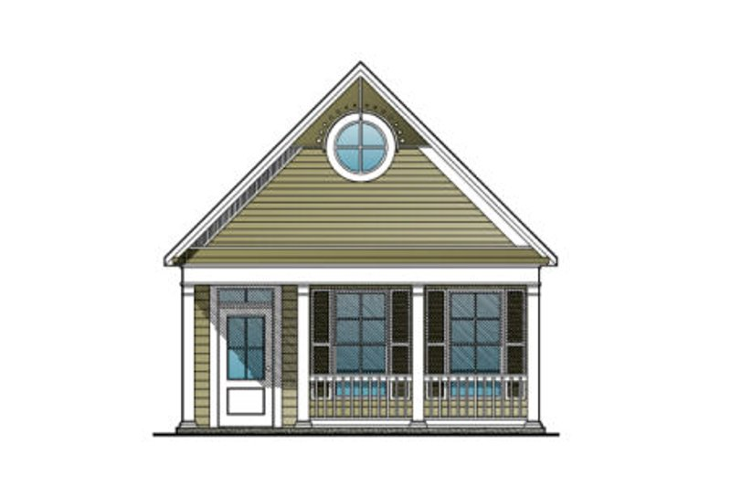 Craftsman Style House Plan - 0 Beds 0 Baths 480 Sq/Ft Plan #123-109 Exterior - Front Elevation