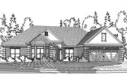 Traditional Style House Plan - 4 Beds 3 Baths 2047 Sq/Ft Plan #63-360 Exterior - Front Elevation