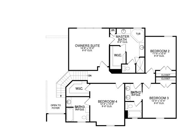 Dream House Plan - Traditional Floor Plan - Upper Floor Plan #1058-199