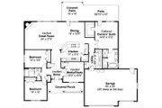 Ranch Style House Plan - 3 Beds 2 Baths 2316 Sq/Ft Plan #124-826 Floor Plan - Main Floor Plan