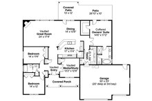 Ranch Floor Plan - Main Floor Plan Plan #124-826