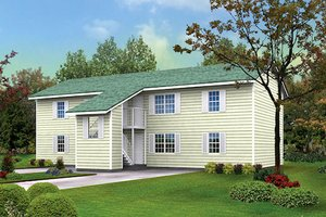 Contemporary Exterior - Front Elevation Plan #57-246