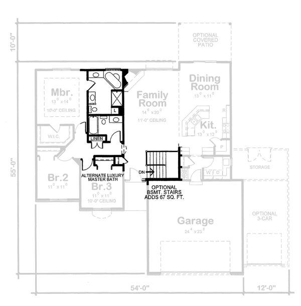 European Floor Plan - Other Floor Plan Plan #20-2072