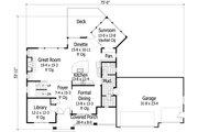 Craftsman Style House Plan - 4 Beds 2.5 Baths 3074 Sq/Ft Plan #51-443 Floor Plan - Main Floor