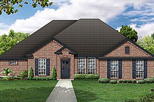 European Exterior - Front Elevation Plan #84-479