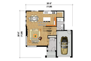 Contemporary Style House Plan - 4 Beds 1 Baths 1931 Sq/Ft Plan #25-4574 Floor Plan - Main Floor Plan