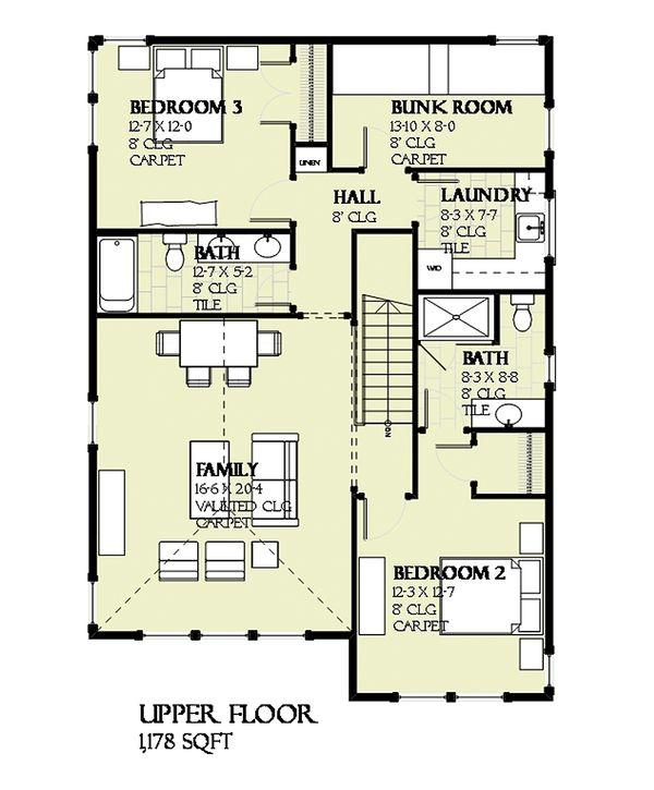 Prairie Floor Plan - Upper Floor Plan Plan #901-116