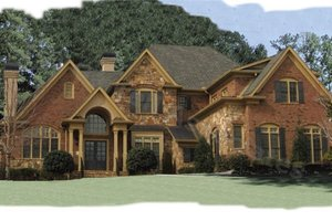 Dream House Plan - European Exterior - Front Elevation Plan #54-104