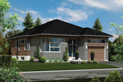 Contemporary Style House Plan - 3 Beds 1 Baths 1414 Sq/Ft Plan #25-4410 Exterior - Front Elevation