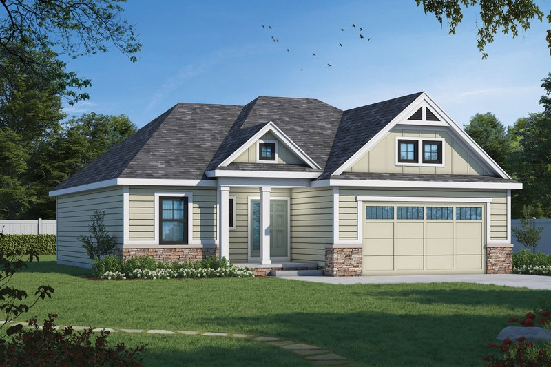 Dream House Plan - Cottage Exterior - Front Elevation Plan #20-2260