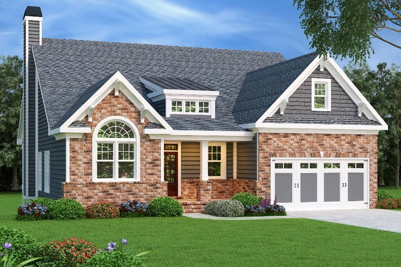 Dream House Plan - Craftsman Exterior - Front Elevation Plan #419-213