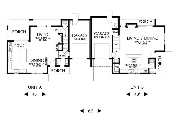 Dream House Plan - Contemporary Floor Plan - Main Floor Plan #48-1026