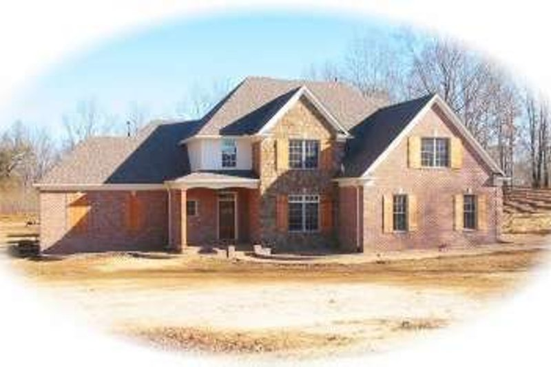 European Style House Plan - 4 Beds 3.5 Baths 3099 Sq/Ft Plan #81-1515 Exterior - Front Elevation
