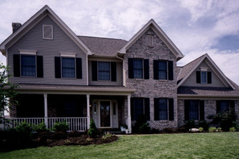 Country Exterior - Front Elevation Plan #46-202