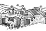 Log Style House Plan - 4 Beds 5 Baths 4456 Sq/Ft Plan #451-16 Exterior - Rear Elevation