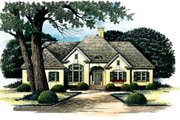European Style House Plan - 3 Beds 2.5 Baths 2770 Sq/Ft Plan #429-2 Exterior - Front Elevation