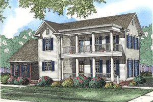 Southern Exterior - Front Elevation Plan #17-2031