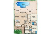 Traditional Style House Plan - 3 Beds 3.5 Baths 3091 Sq/Ft Plan #27-506 Floor Plan - Main Floor Plan
