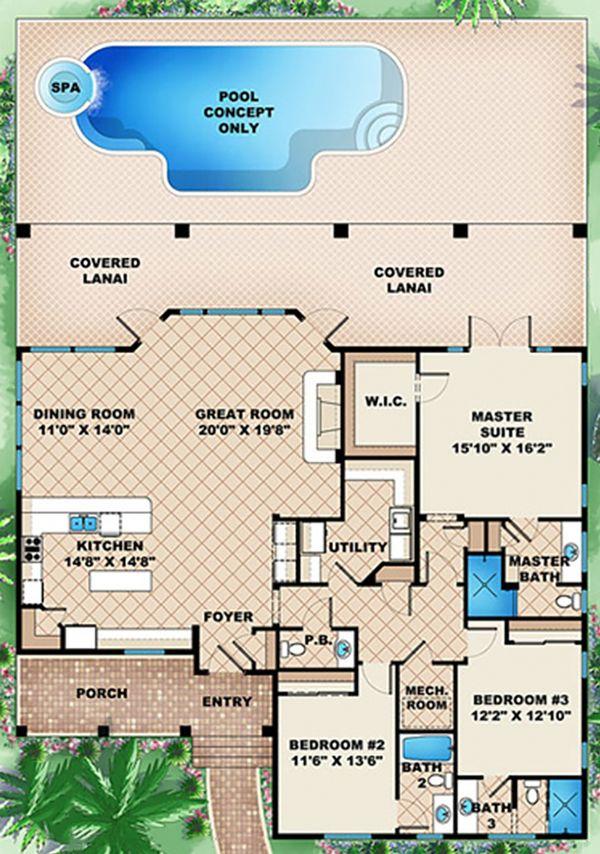 Traditional Floor Plan - Main Floor Plan Plan #27-506