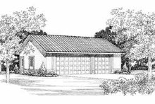 House Blueprint - Traditional Exterior - Front Elevation Plan #72-253