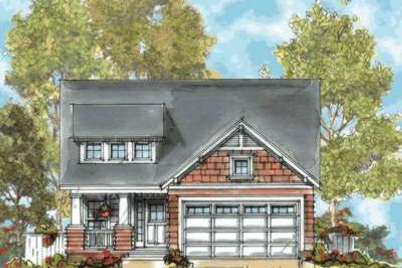 Architectural House Design - Craftsman Exterior - Front Elevation Plan #20-1658