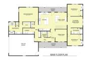 Farmhouse Style House Plan - 3 Beds 2.5 Baths 2889 Sq/Ft Plan #1068-4 Floor Plan - Main Floor