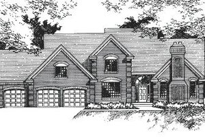 European Exterior - Front Elevation Plan #51-144