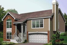 House Plan Design - European Exterior - Front Elevation Plan #57-181