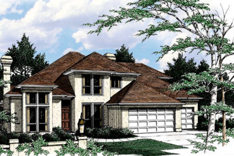 Dream House Plan - Prairie Exterior - Front Elevation Plan #48-443