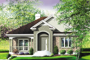 Traditional Style House Plan - 2 Beds 1 Baths 1142 Sq/Ft Plan #25-118 Exterior - Front Elevation