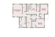 European Style House Plan - 4 Beds 3 Baths 3174 Sq/Ft Plan #461-58 Floor Plan - Upper Floor