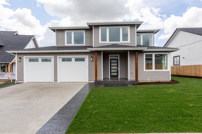 House Plan Design - Contemporary Exterior - Front Elevation Plan #1070-77