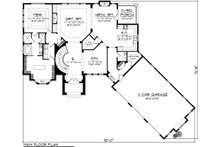 Traditional Floor Plan - Main Floor Plan Plan #70-1091