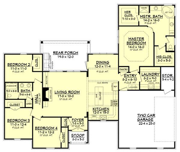 European Floor Plan - Main Floor Plan Plan #430-125
