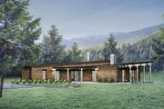 Contemporary Style House Plan - 3 Beds 2.5 Baths 2180 Sq/Ft Plan #924-1 Exterior - Front Elevation