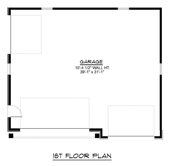 Craftsman Floor Plan - Main Floor Plan Plan #1064-20