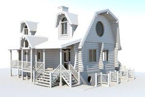 Log Exterior - Front Elevation Plan #451-13