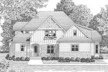 Tudor Exterior - Other Elevation Plan #413-140
