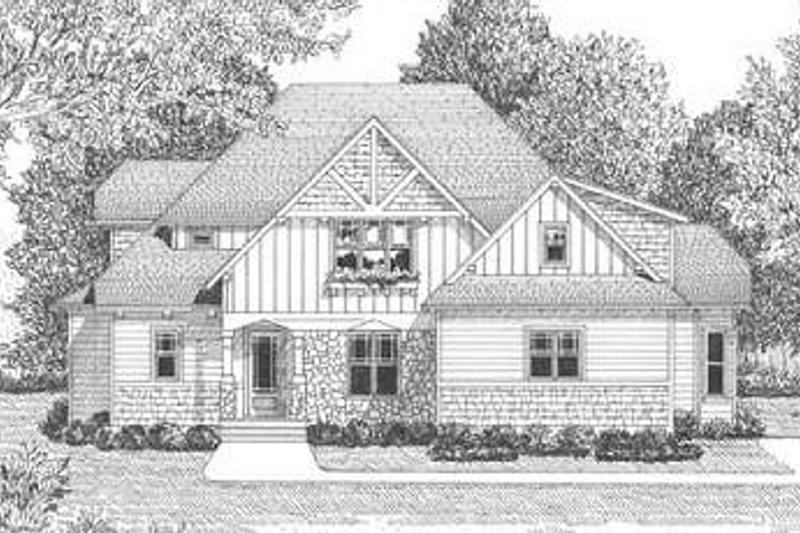 Tudor Exterior - Other Elevation Plan #413-140 - Houseplans.com