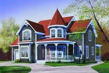 Victorian Exterior - Front Elevation Plan #23-370