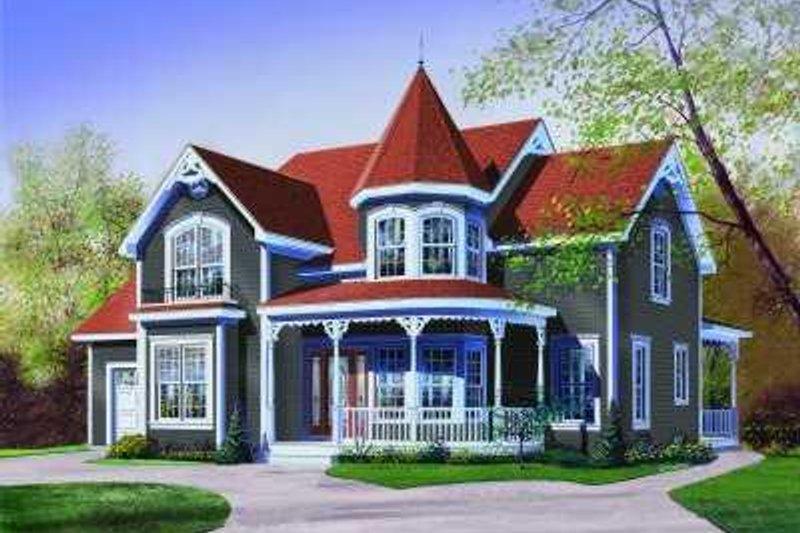 Architectural House Design - Victorian Exterior - Front Elevation Plan #23-370