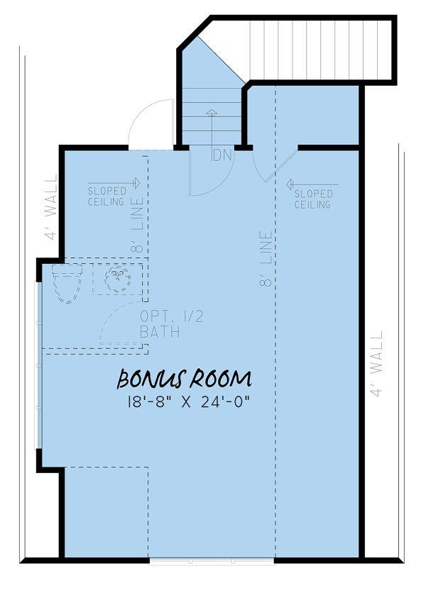 Farmhouse Floor Plan - Upper Floor Plan #923-153