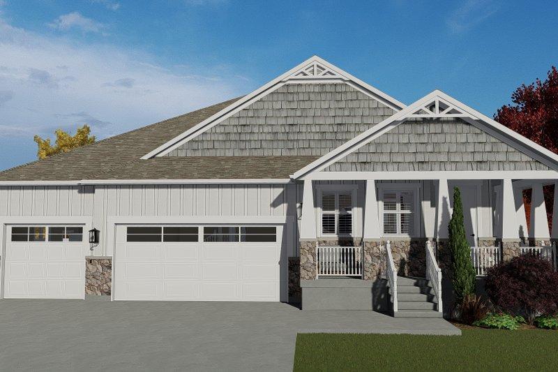 House Plan Design - Craftsman Exterior - Front Elevation Plan #1060-102