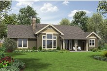 Architectural House Design - Craftsman Exterior - Rear Elevation Plan #48-659