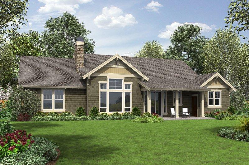 Craftsman Exterior - Rear Elevation Plan #48-659 - Houseplans.com