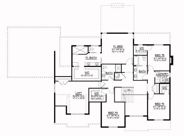 Farmhouse Floor Plan - Upper Floor Plan #1064-113