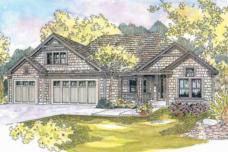 Craftsman Exterior - Front Elevation Plan #124-563