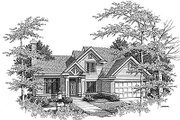 Traditional Style House Plan - 4 Beds 2.5 Baths 2044 Sq/Ft Plan #70-290 Exterior - Front Elevation